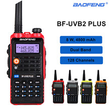 High 8W Baofeng Walkie Talkie UVB2 Plus Dual Band VHF/UHF Transceiver Bf-Uvb2 10km Two Way Radio 4800mAh Handheld CB Ham Radio(China)