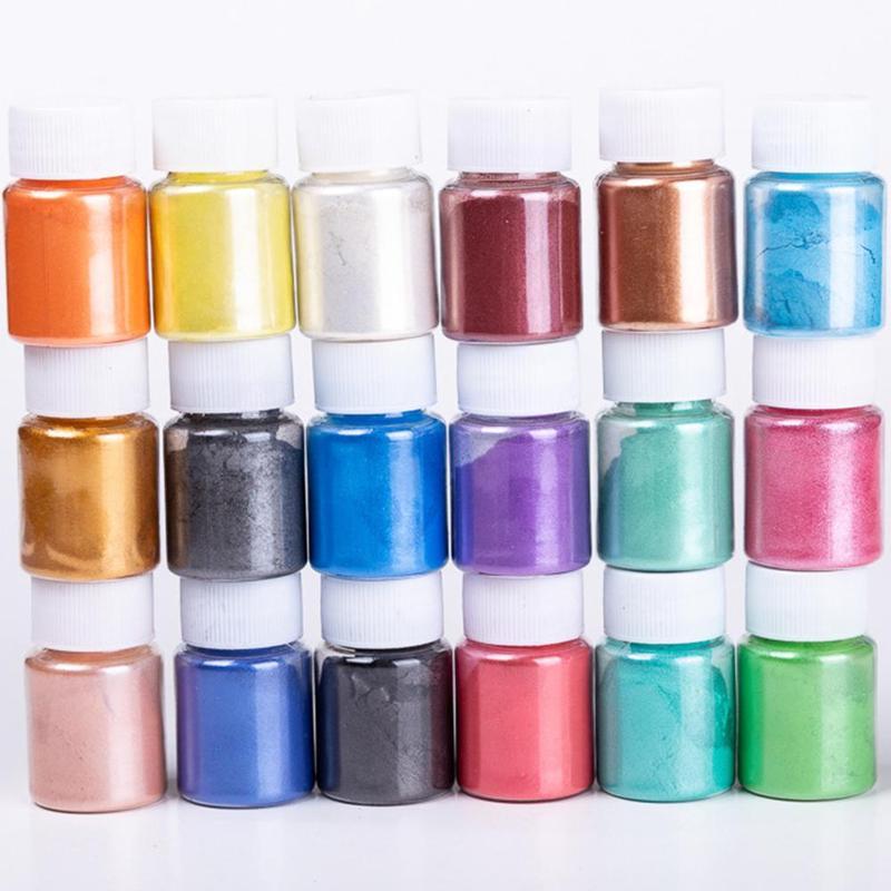 10g Soap Pigment For Slime Dye Shimmer Powder Pigments DIY Fruit Flower Flavor Slime Fluffy Foam Slime Clay Antistress Kids Toys