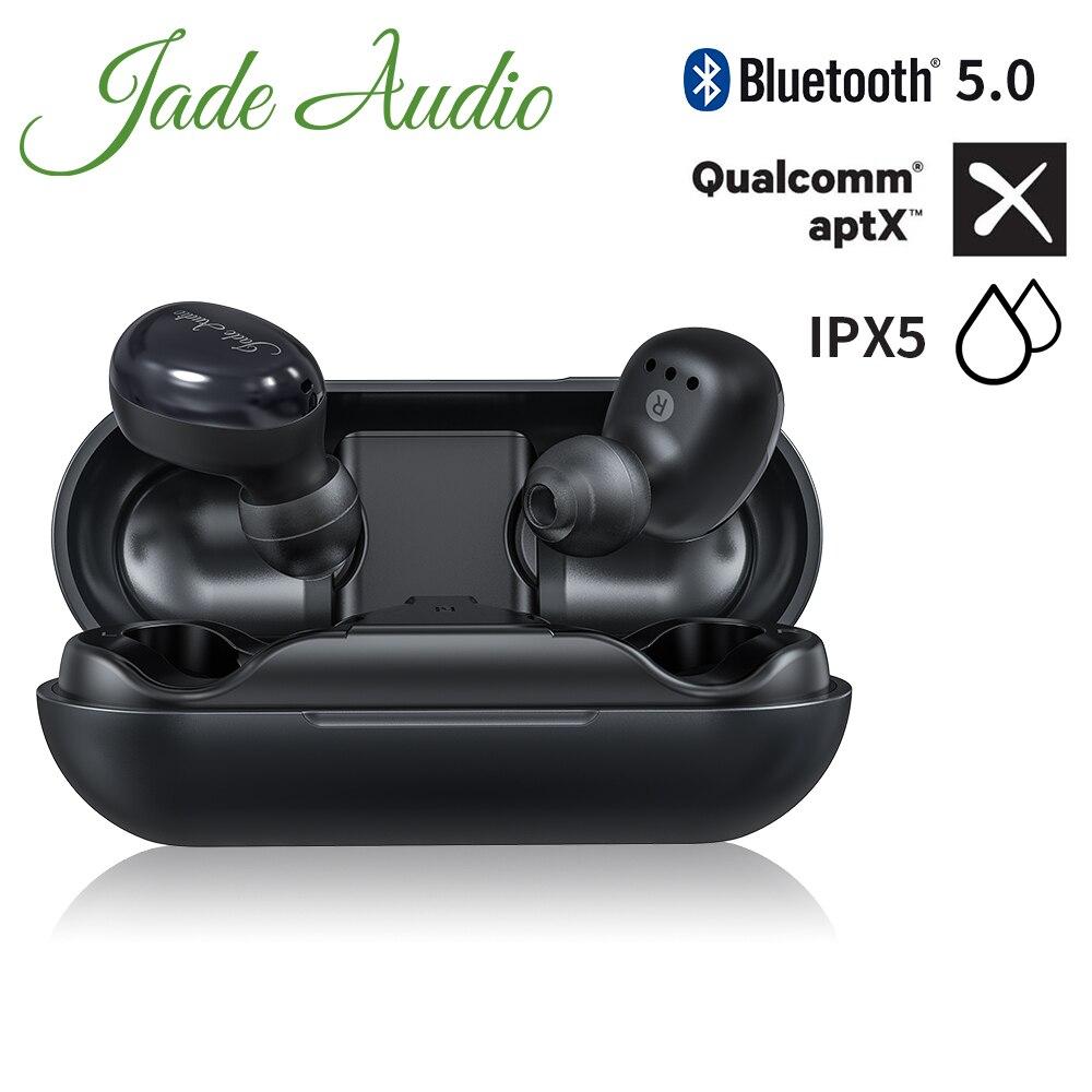 JadeAudio EW1 TWS IPX5 Bluetooth AptX V5.0 Sports Wireless Earphones With AptX/AAC/SBC Support(Clear Calls/Touch Control)