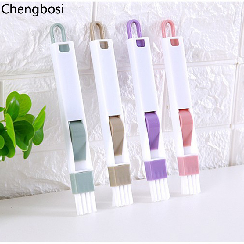 Image 5 - 2 In 1 Multipurpose Window Groove Cleaning Brush Household Keyboard Home Kitchen Folding Brush Cleaning Tool Computer Cleaners-in Computer Cleaners from Computer & Office