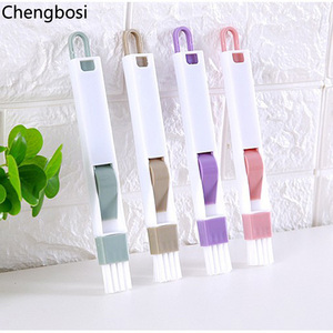 Image 5 - 2 In 1 Multipurpose Window Groove Cleaning Brush Household Keyboard Home Kitchen Folding Brush Cleaning Tool Computer Cleaners