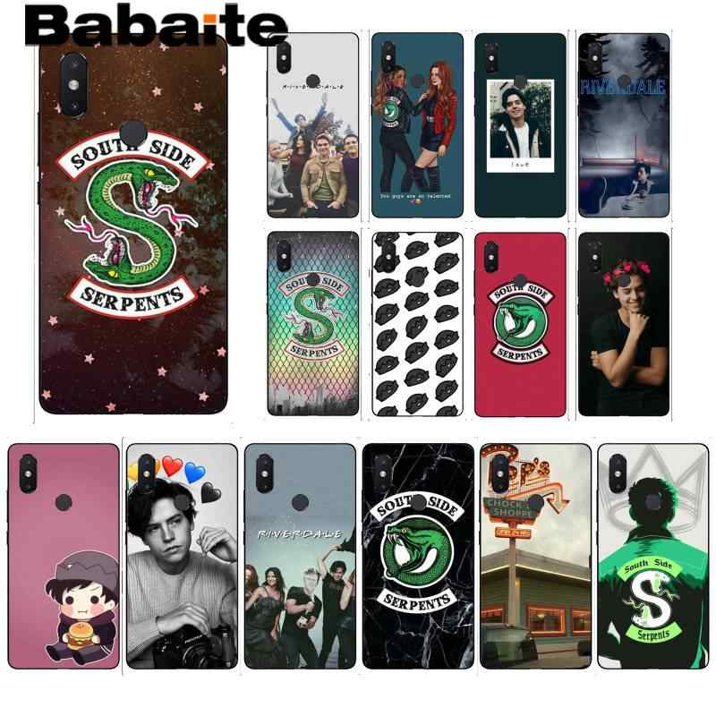 Babaite Riverdale South Side งูสีดำสำหรับ xiaomi6 MIX2 Note3 redmiK20 7 xiaomi8 SE Redminote4 4X note5 5A