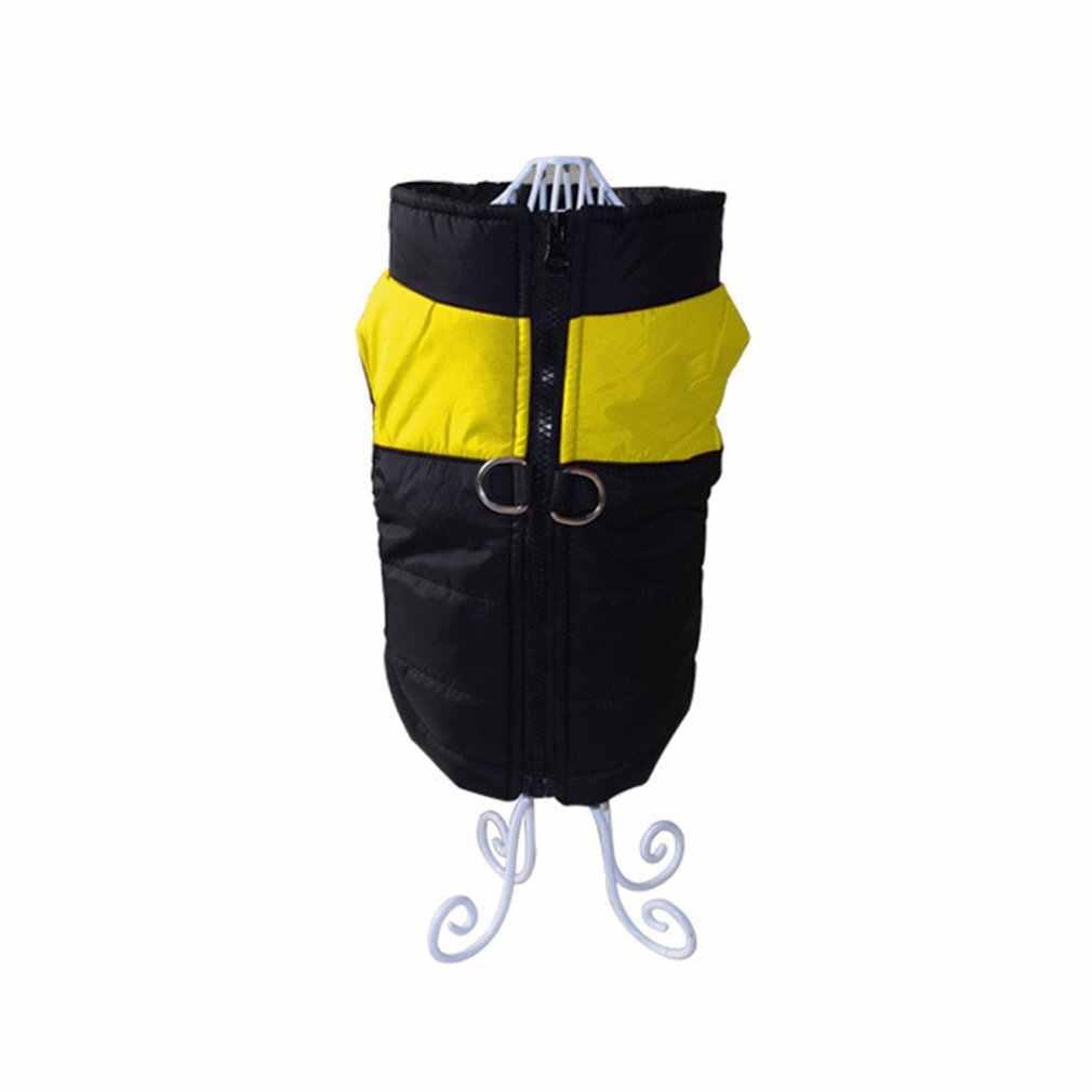 Cão de estimação à prova dwaterproof água colete jaqueta inverno quente grande cão roupas para pequenos grandes cães bulldog para pequeno médio cão amarelo xl