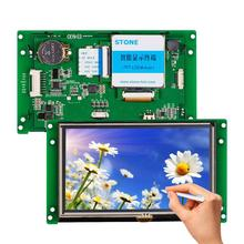 4.3 inch LCD touch screen panel with RS232/ RS485/ TTL port