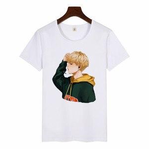 Женская футболка с принтом альбома SUGA JIMIN, женская футболка в Корейском стиле Harajuku, Kawaii, футболка с графическим принтом, Повседневная футболка