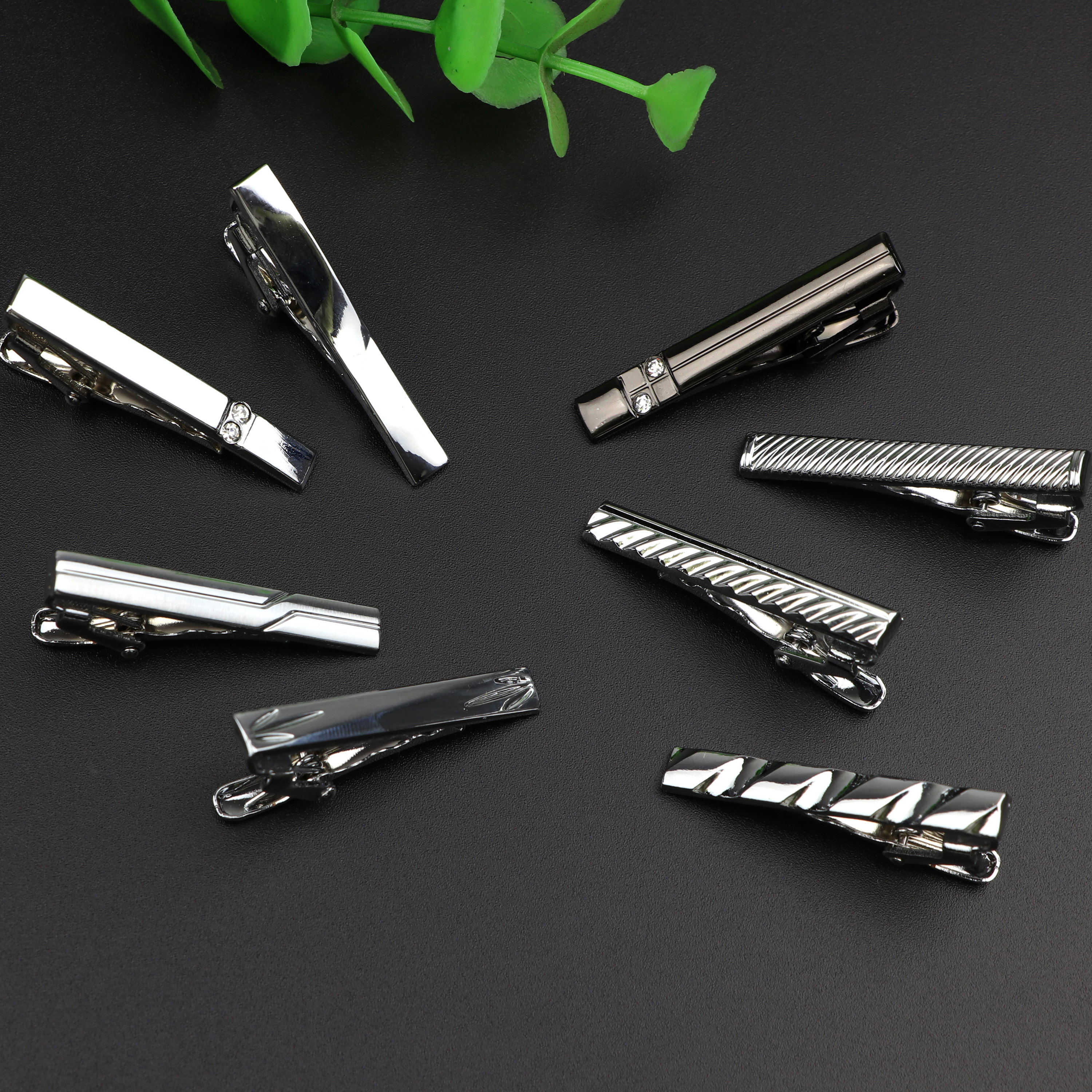 4cm New Simple Fashion Style Tie Clip Metal Silver Exquisite Practical Clips Pin Clasp Business Wedding Accessories Gift For Men