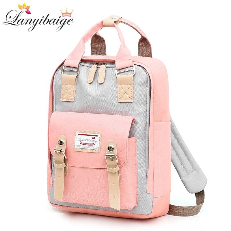 Multifunction Women Backpack Girls Shoulder Bag High Quality Laptop Backpack Canvas Schoolbag For Teenager Girls Cute Backpacks