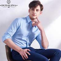 Plus Größe 8XL Stickerei Mode Blusa Camisa Sozialen Masculina Dudalina Langarm Slim Fit Shirt Männer Kleidung Weiß Männlichen