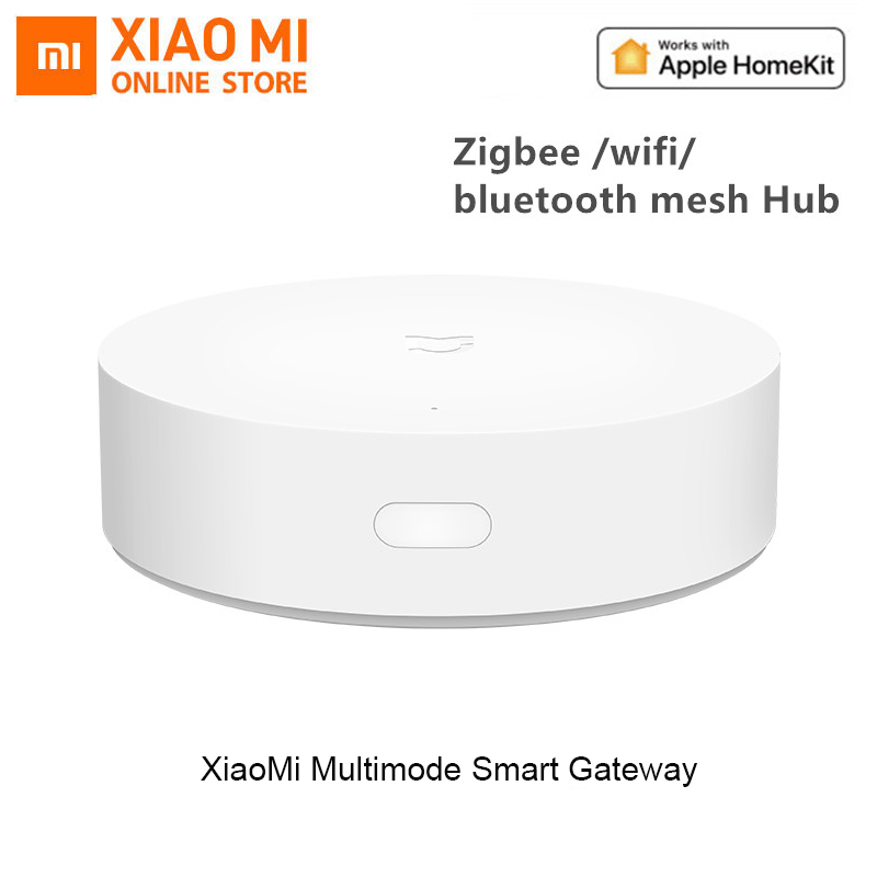 Xiaomi Mijia Multi-Mode Smart Gateway Voice Remote Control Automation Work With ZigBee 3.0 WIFI Bluetooth Mesh Smart Devices
