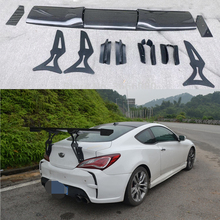 Car Styling Carbon Fiber Material Rear Roof Spoiler Tail Trunk Wing Boot Lip Molding For Hyundai tiburon Genesis Coupe