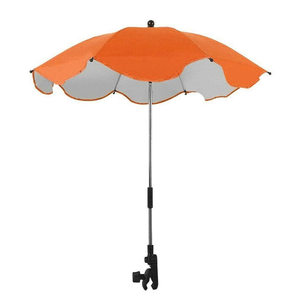 Mult-color Adjustable Stroller Umbrella Rain UV Protective Umbrellas Tool Anti-Sai Parasol Pram For Strollers Baby Shade Su R0N4