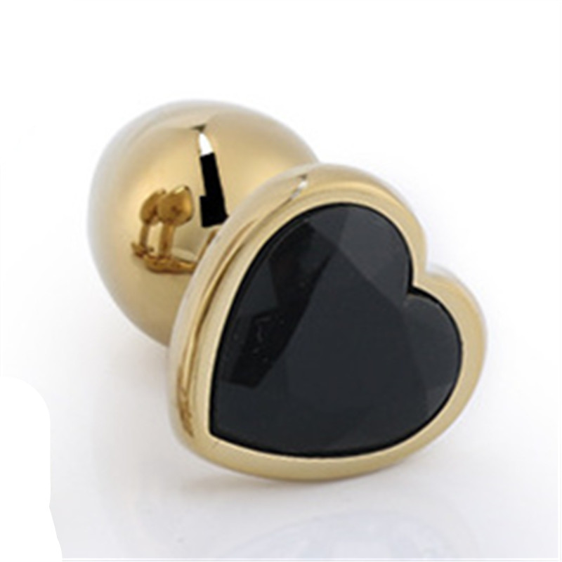 Image 5 - Gold Color Heart shaped Metal Anal Plug With Gem Two Size Butt Plug You Can Choose Anal Sex Toy Sex Product For Women Men Gay-in Anal Plug from Beauty & Health