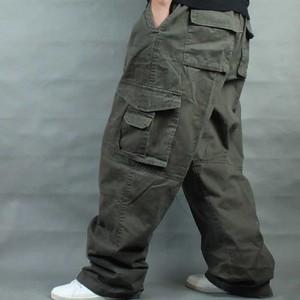 Image 5 - Брюки мужские с широкими штанинами в стиле хип хоп, повседневные хлопковые брюки карго, Свободные мешковатые штаны, уличная одежда, мужские джоггеры