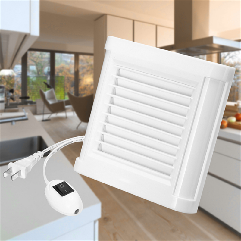 15W 4 Inch Silence Ventilating Strong Exhaust Extractor Fan For Window Wall Bathroom Toilet Kitchen Mounted 220V 100mm Wall Fan