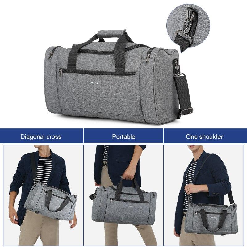 Tigernu 2019 กระเป๋าเดินทาง Spalshproof ขนาดใหญ่แฟชั่นกระเป๋า Duffle กระเป๋าเดินทางเดินทางกระเป๋าถือผู้ชายผู้หญิงสบายๆชาย-ใน กระเป๋าเดินทาง จาก สัมภาระและกระเป๋า บน   2