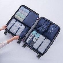 Nuovo 8 pz/set Borse Organizzatore di Viaggi Per Abbigliamento Organizzatori di Imballaggio Trasparente Borse di Maglia Valigia Sacchetto Dei Bagagli In Borsa Dropshipping