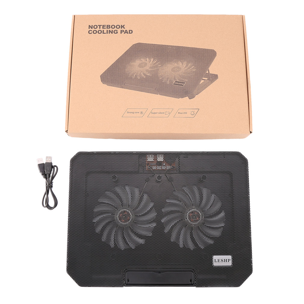 Lightweight 3 Big <font><b>Fan</b></font> 2 USB Laptop Cooler <font><b>Cooling</b></font> Pad Base <font><b>Notebook</b></font> Cooler Computer USB <font><b>Fan</b></font> Stand H1 For Laptop PC Video 15.6