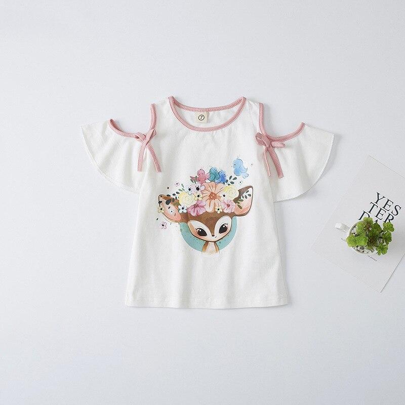VIDMID children t-shirts baby girls cotton t-shirts tees baby & kids summer children clothes kids cartoon short sleeve 4132 03 5