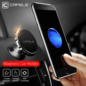 Image 2 - Cafeleユニバーサル磁気車電話ホルダー電話カーホルダー携帯電話携帯電話用スタンドマグネットマウントアルミ合金