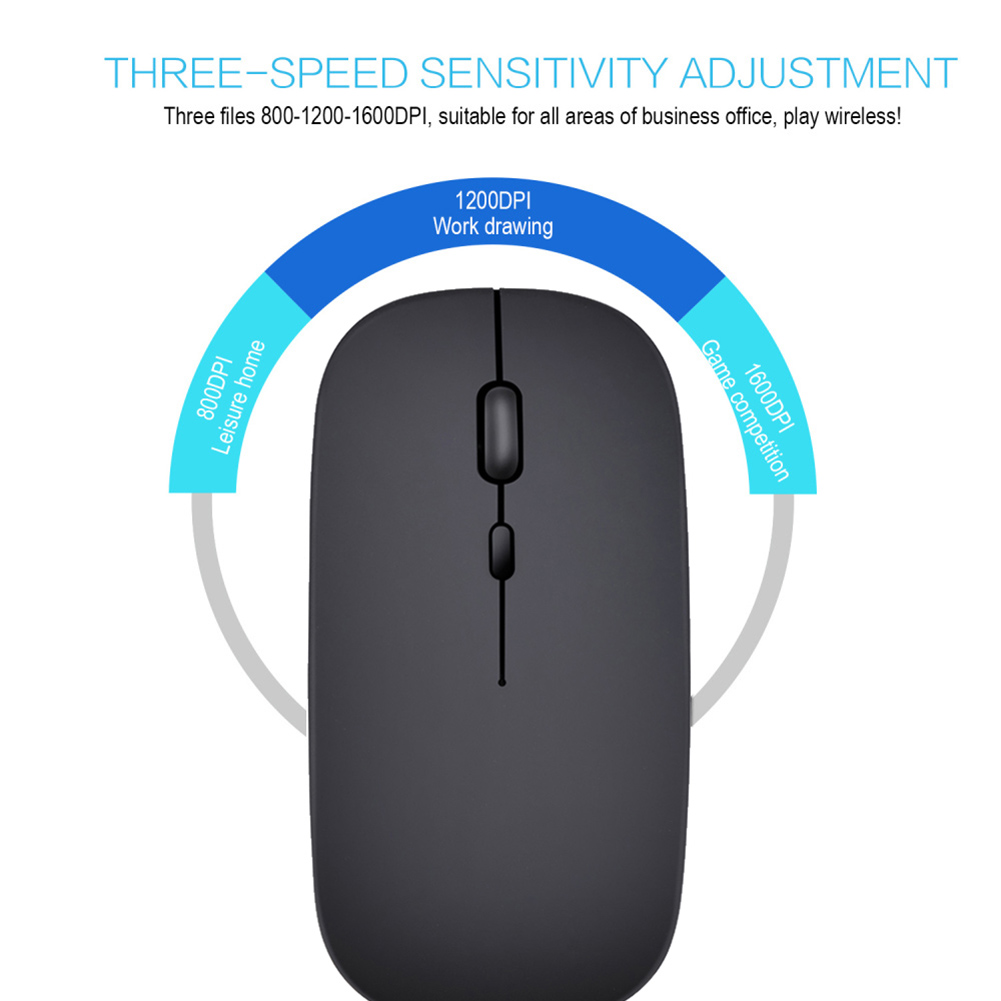 2019 Wireless Mouse Chargeable Ultra-silent Click Optical Mice with USB Cable