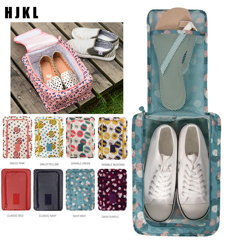 HJKL Waterproof Shoes Bag Pouch Storage Travel Bag Portable Shoes Organizer Sorting Pouch Zip Lock Home StoragePortable Shoe Bag