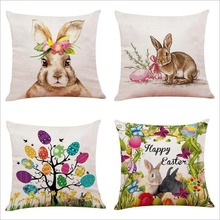 Liviorap Easter Cushion Cover Happy Party Decoration Supplies Rabbit decoration For Home