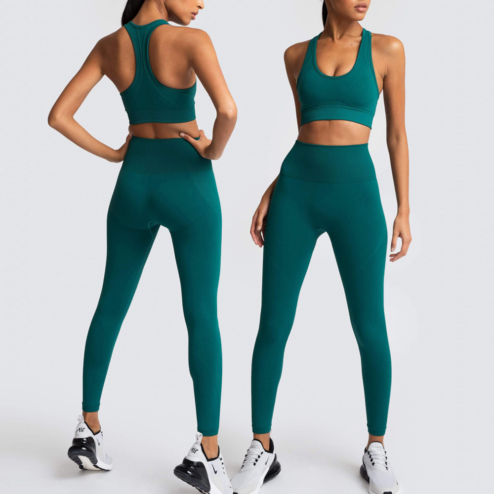 Seamless Yoga Sets Women Gym Clothes Tracksuit 12 Colors Leggings Sport Fitness Clothing Sportswear Workout Clothes For Women