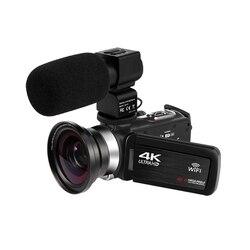 KOMERY إصدار جديد كاميرا الفيديو 4K واي فاي 48 ميغابكسل المدمج في ملء ضوء شاشة تعمل باللمس تسجيل الدخول لyoubute فيديو كاميرا رقمية