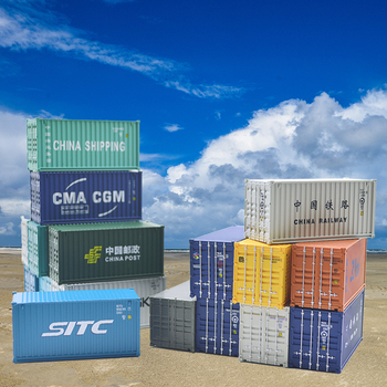 HO scale Model Train Accessories 20ft shipping freight container Scale 1: 87 train model railway out 10 pcs road landscape tree model train model train ho scale 1 87 modelspoor ho treinen modelspoor ho diorama лего