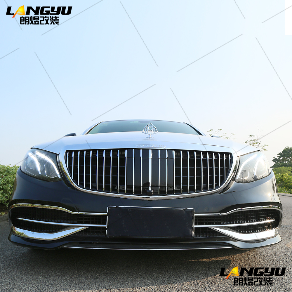 For <font><b>Mercedes</b></font> Benz E <font><b>Class</b></font> W213 <font><b>S</b></font> <font><b>Class</b></font> <font><b>W222</b></font> Maybach S680 Style 2017 2018 2019 2020 Polypropylene PP Body Kit Bumper Diffuser Lip image