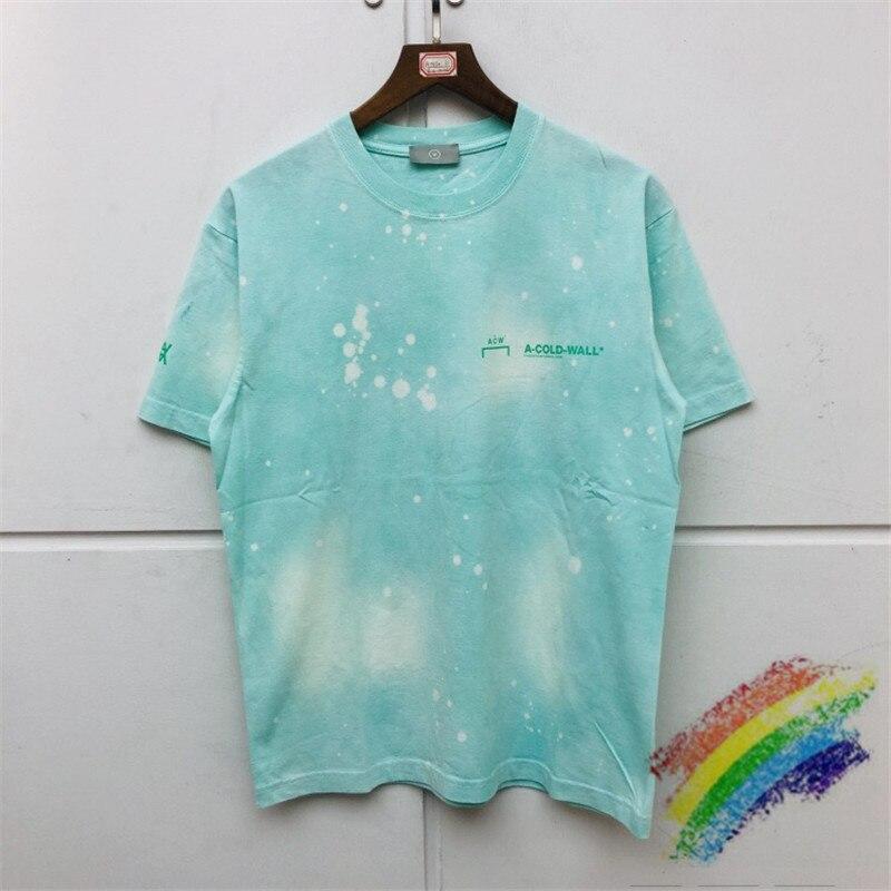 2020ss A-COLD-WALL ACW T Shirt Men Women Best Quality ACW Summer Style Tees Light Green Splash Ink Tie Dye A COLD WALL T-shirts
