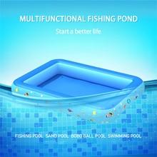 цена на Children's inflatable pool square baby swimming pool splashing fishing pool  insulation pools baby tub piscina infantil