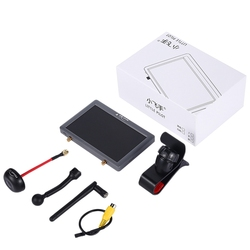 Retail 5.8G FPV Display 4Th Generation Dual Receiver DVR Video Transmission Display with Video Buffer