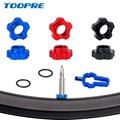 Бескамерный клапан для велосипеда Schrader, адаптер для конвертации гаек для MTB велосипеда, гайка для преобразования обода клапана с установочн...