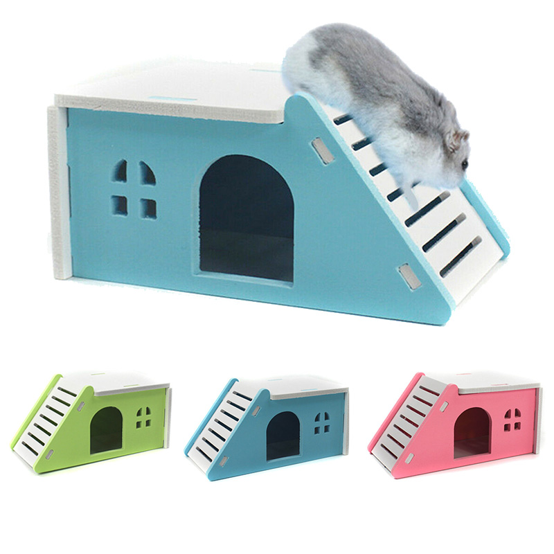 2019 New Pet Hamster House Bed Cage Nest Hedgehog Guinea Pig Castle Toy Hedgehog Guinea Small Pets Supplies Cute Animals Home