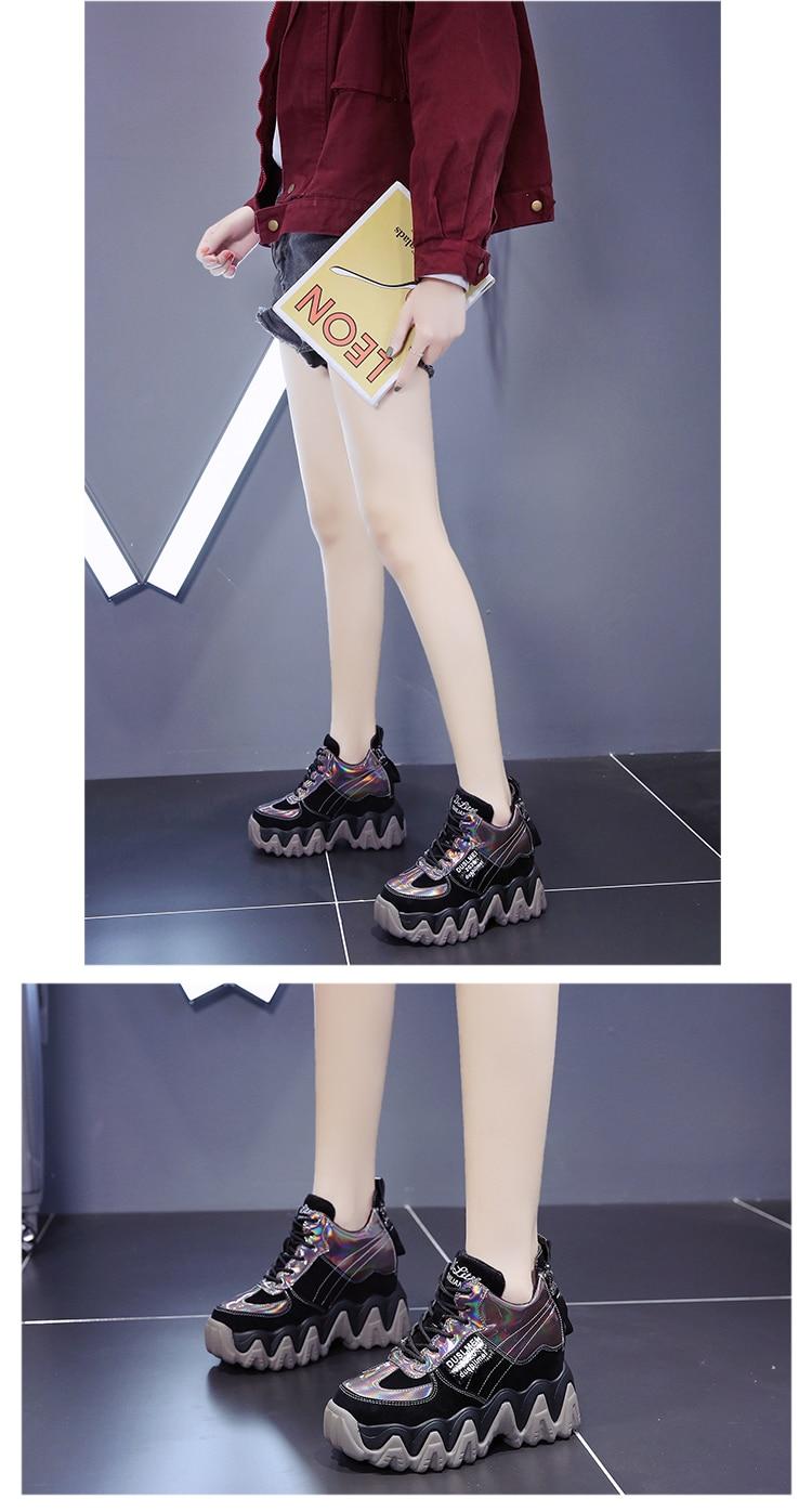 mulheres confortáveis sapatos de plataforma alta 10