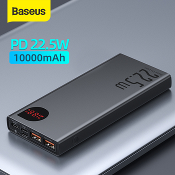 Baseus Power Bank 10000mAh with 20W PD Fast Charging Powerbank Portable Battery Charger PoverBank For iPhone 12Pro Xiaomi Huawei 1