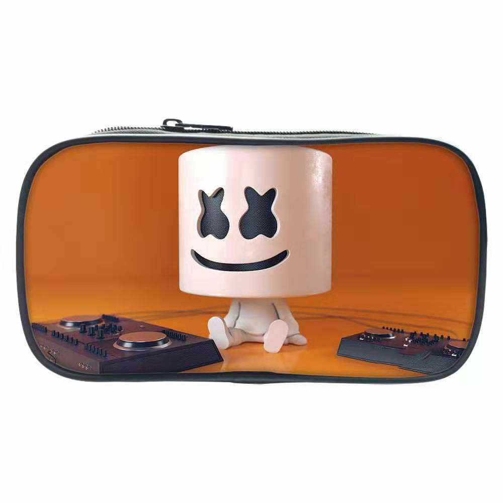 DJ Singer Creative Pencil case Marshmallow Cosplay Pencil Case Bag For Kids Gift Girl Boy Stationery bag Hot sale