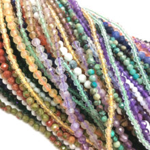 3 Dollar Items and Shipping Upgrade Factory Price Faceted Round Beads 2mm 3mm Stone DIY Jewelry Making Bracelet NecklaceDesign