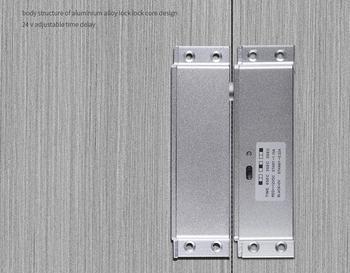 12VDC Zeit Verzögerung Elektrische Bolzen Schloss Für Tür Access Control System Türschloss Elektrische Lock Niedrigen Temperatur