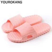 лучшая цена Summer Women Home Slippers Indoor Floor Bathroom Flip Flops Soft Solid Lightweight Female Slides EVA Unisex Beach Shoes Sandals