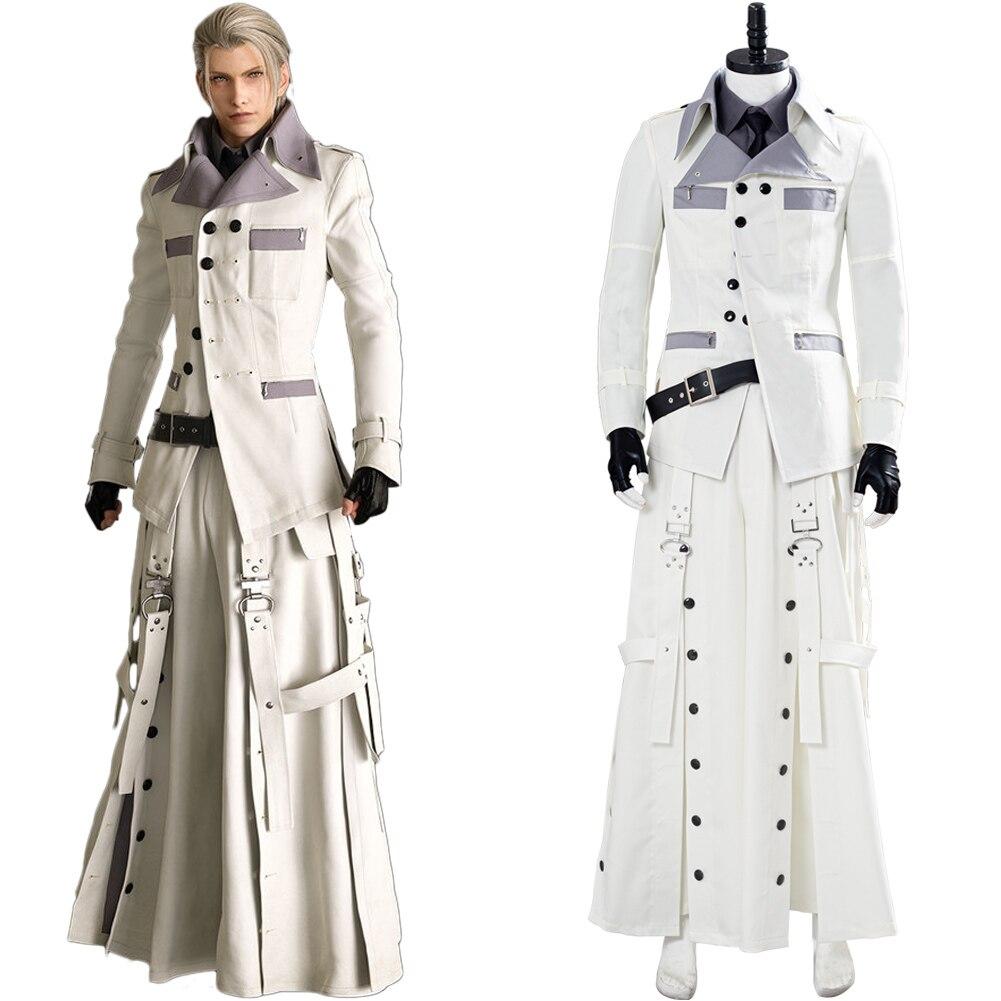 Final cosplay fantasia vii rufus shinra traje adulto camisa dos homens casaco calças roupas halloween carnaval trajes