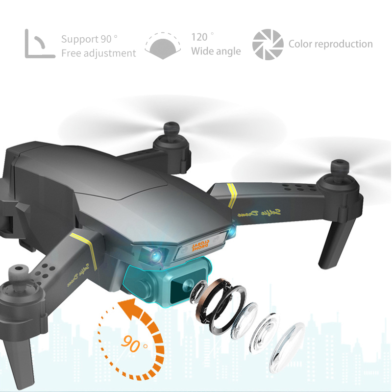 Clearance SaleGlobal Drone Camera Rc Helicopter Live-Video E58-E520 FPV 4K with HD VS EXA