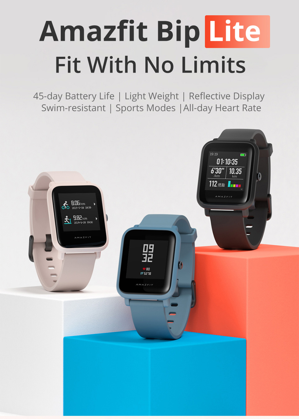 Xiaomi midong juventude verison bip lite relógio inteligente