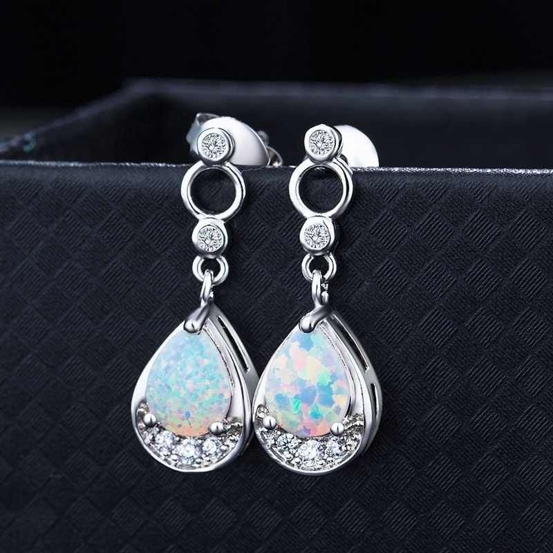 Luxury Drop-shaped Fire Opal Earrings Women Glamour Wedding Party Stud Earrings For Girls gift