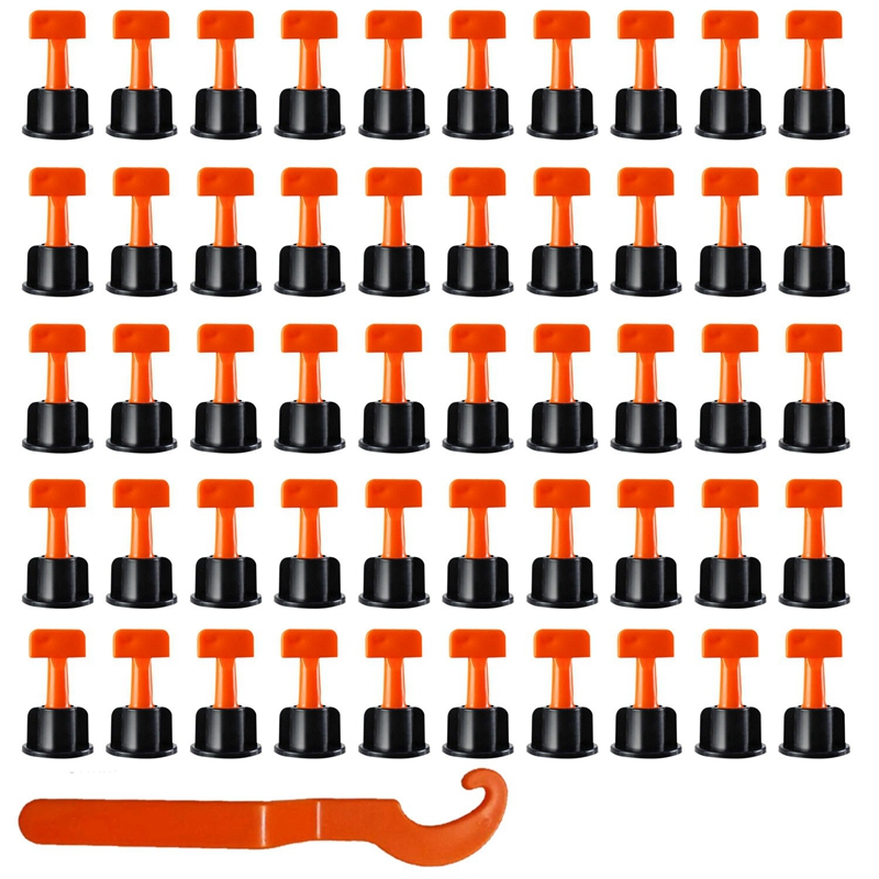 100Pcs Flache Keramik Boden Wand Bau Werkzeuge Reusable Fliesen Nivellierung System Kittile Nivellierung System Kit Für Fliesen