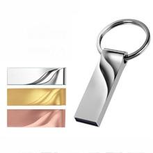 Metal Pen Drive 2.0 Metal USB Flash Drive 128GB 64GB 32GB High Speed 16GB 8GB 4GB Memory USB2.0 Flash Stick