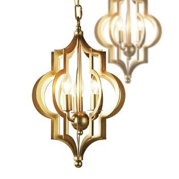 Heißer Verkauf Luminaria Amerikanischen Esszimmer Schlafzimmer LED Leuchten Abajur Kunst Wohnzimmer Kaffee Shop Loft Gold Kronleuchter Beleuchtung