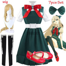 Disfraz de Anime Danganronpa 2 para mujer, disfraz de Halloween, uniforme escolar y peluca