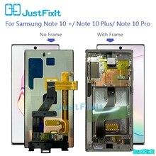 Samsung Galaxy not için orijinal 10 artı çerçeve ile Lcd ekran dokunmatik ekranlı sayısallaştırıcı grup Note10plus/not 10 +/not 10 pro